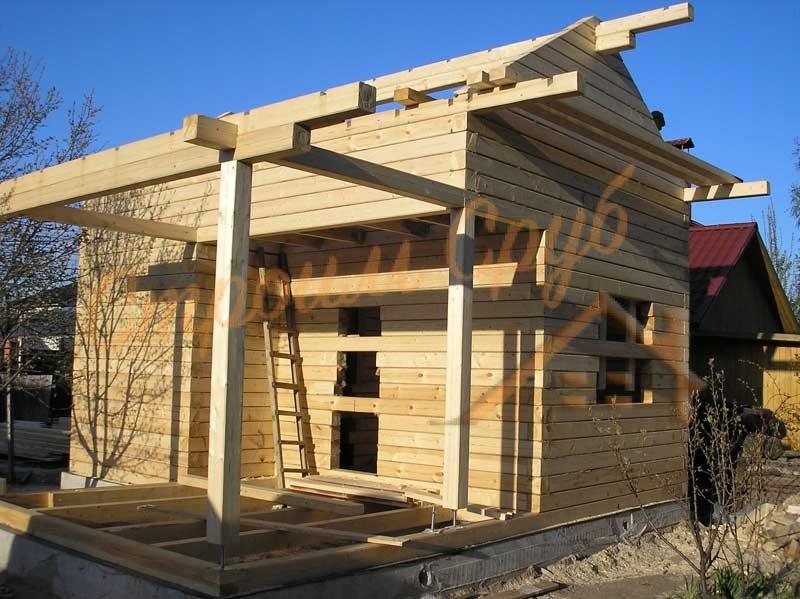 Строительство брусового дачного дома