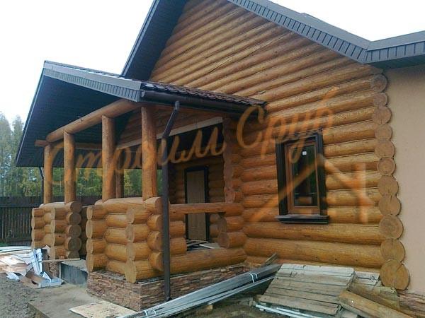 Строительство бревенчатого дома, бани