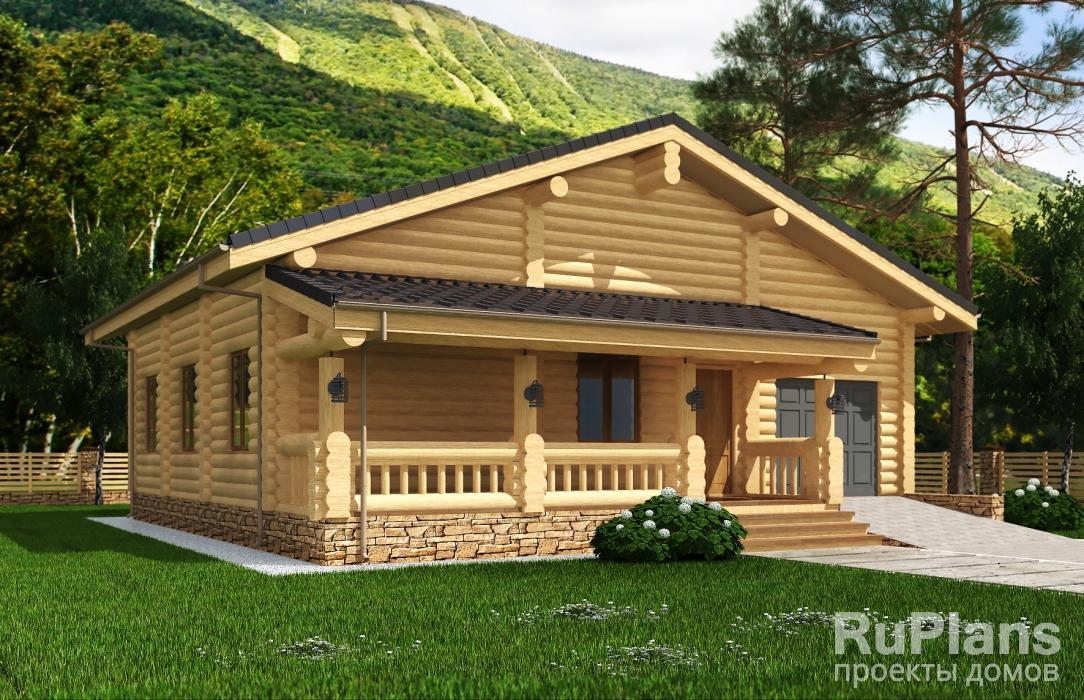 Проект жилого дома с террасами и гаражом Rg5131