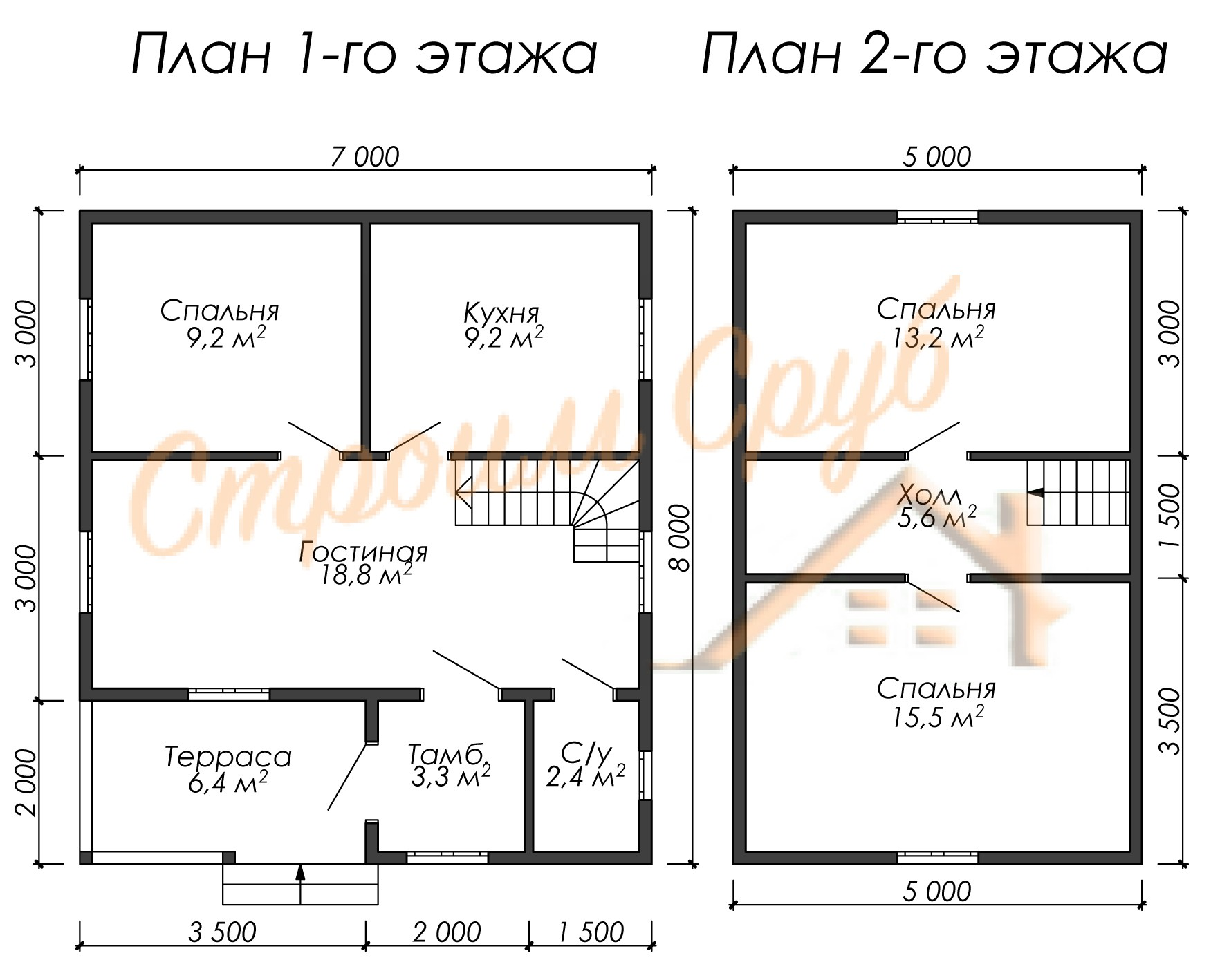Проект дома из бруса №12