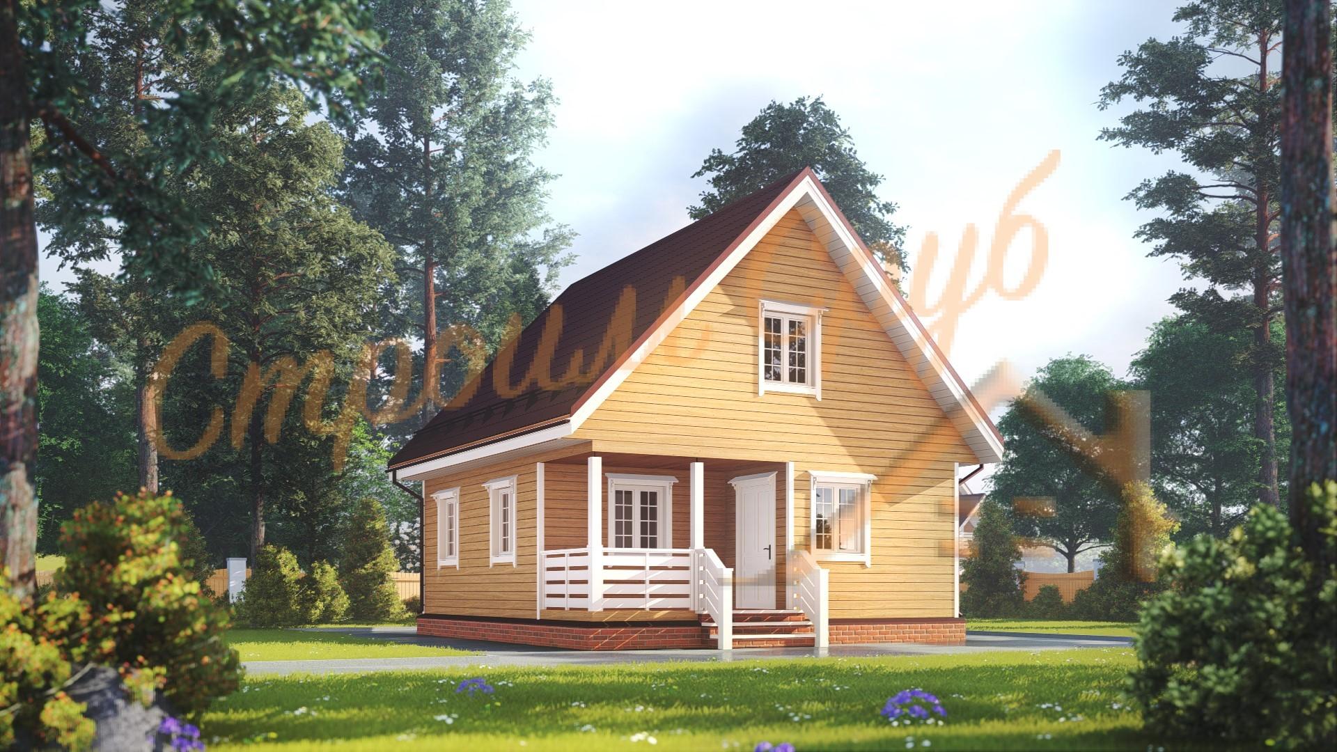 Дом из бруса 7х8 «Дешевый»