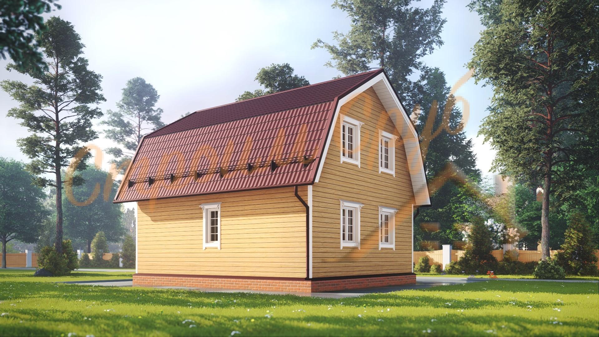 Дом из бруса 8х8 «Жилой»