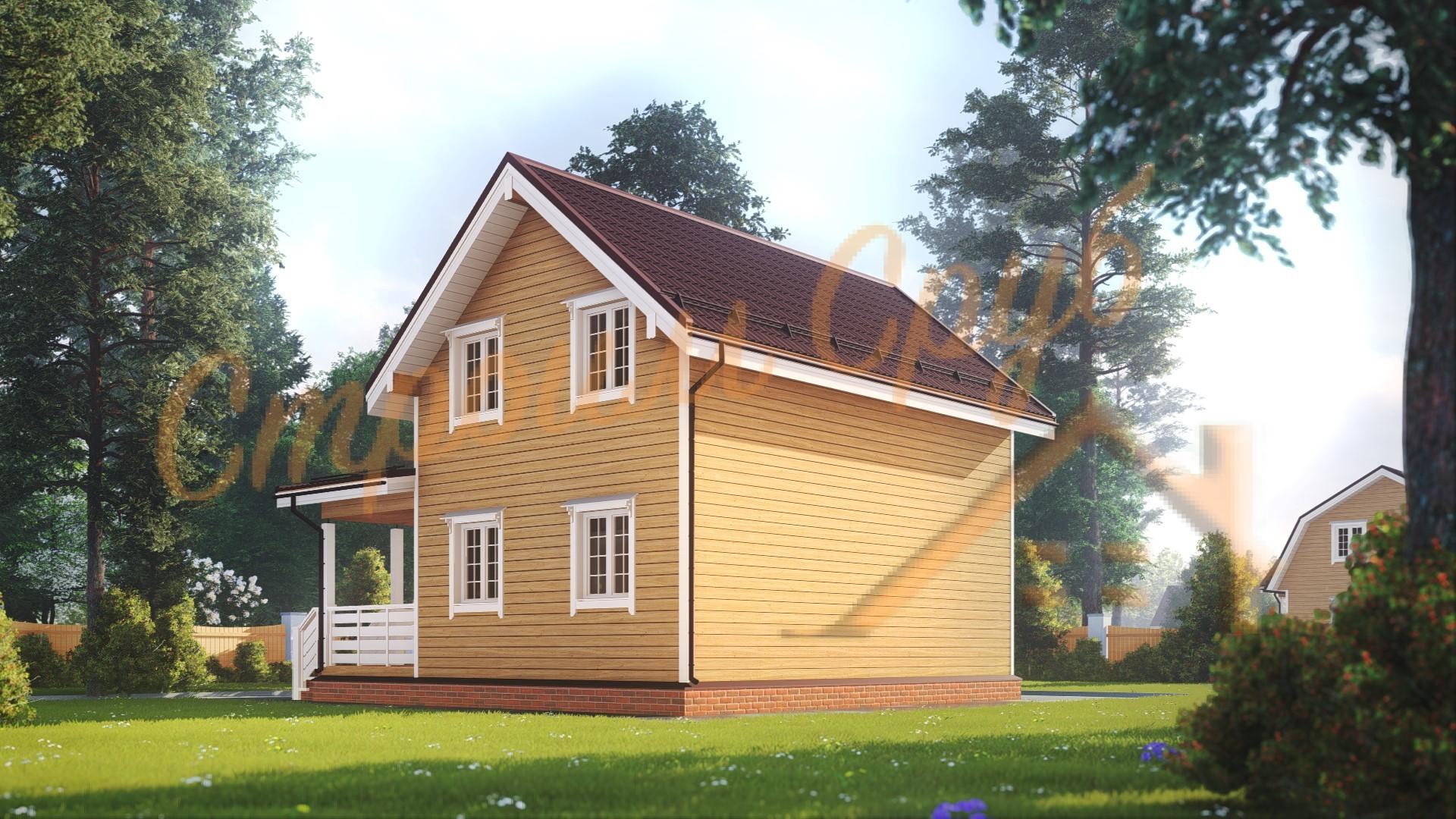 Дом из бруса 8х8 «Уютный»