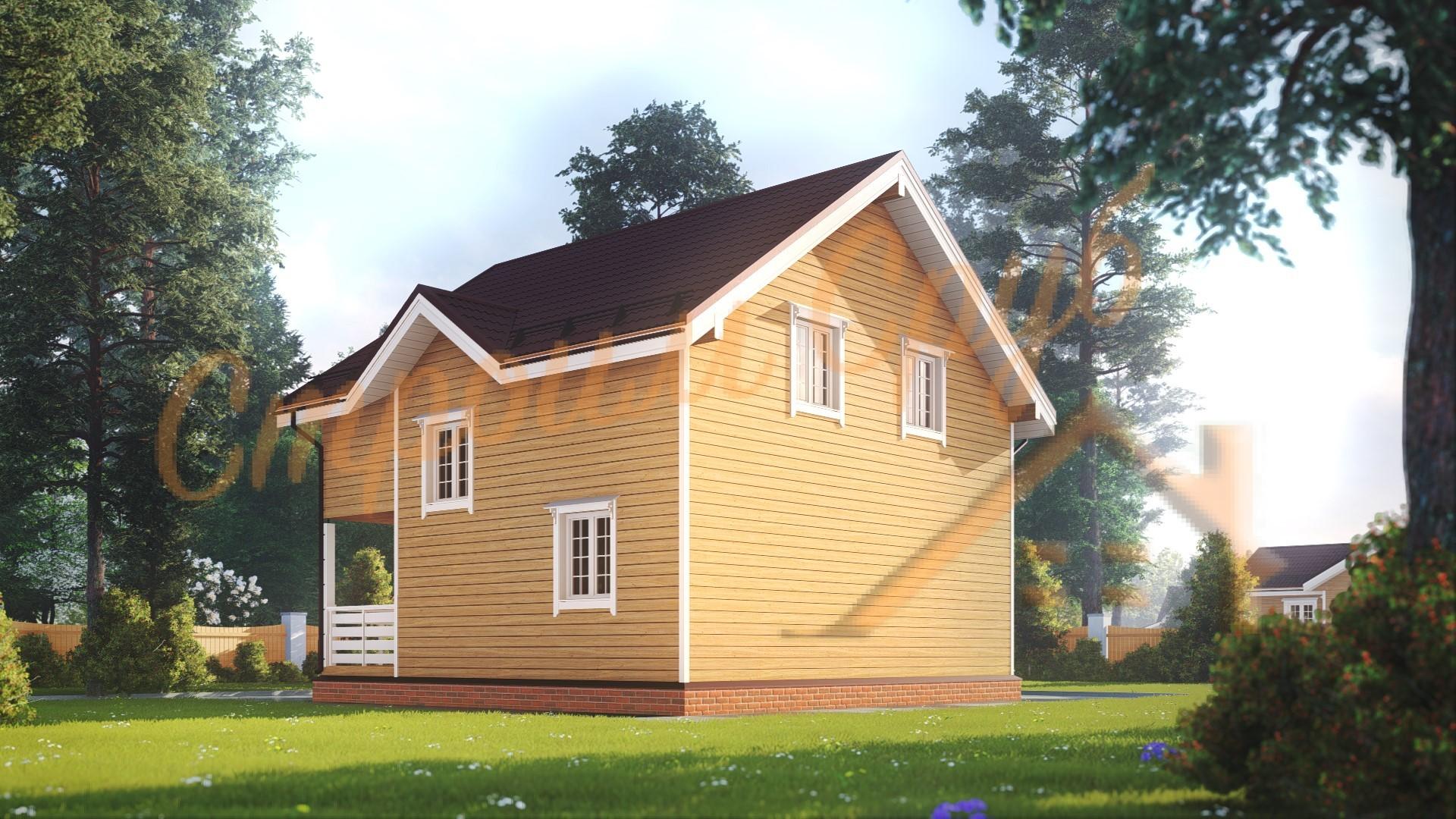Проект дома из бруса №16