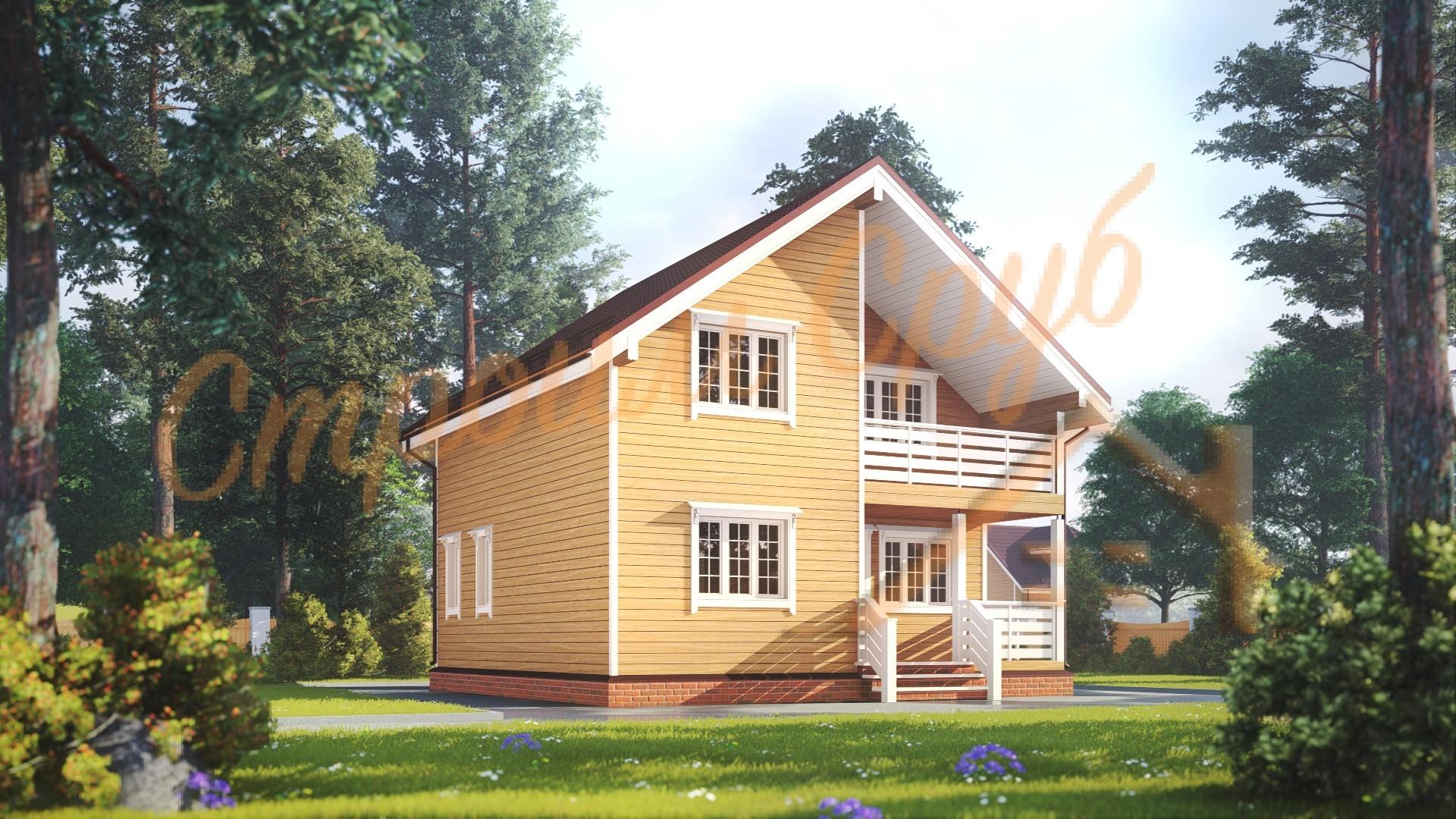 Дом из бруса 8х8 «Русский»