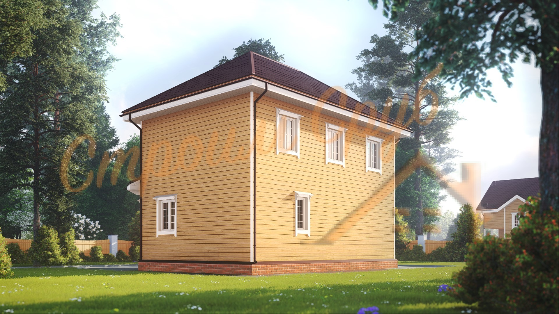 Дом из бруса 7х9 «Необычный»