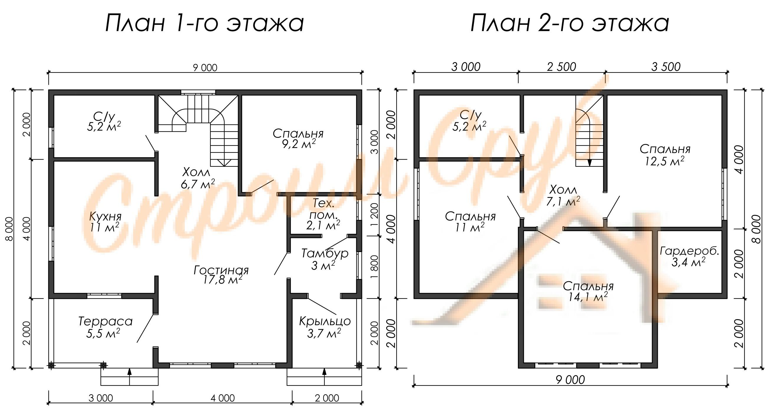 Проект дома из бруса №18