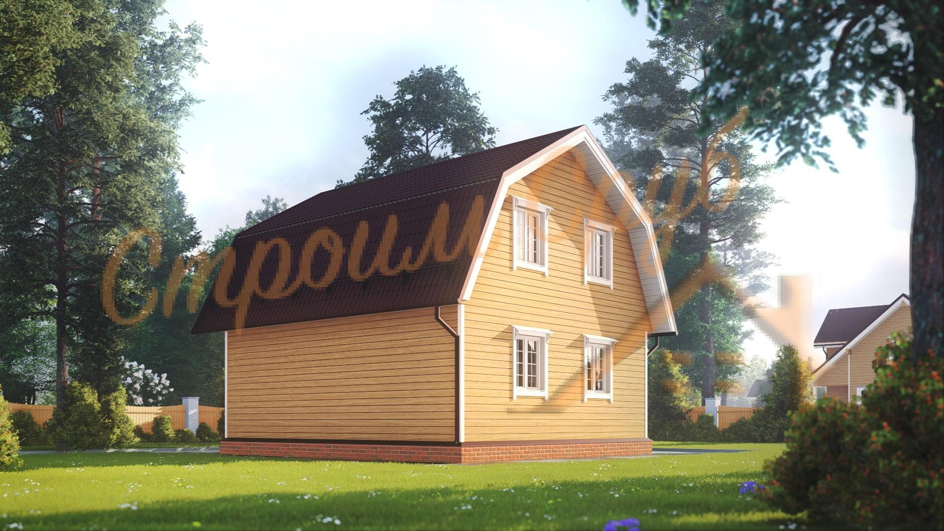 Проект дома из бруса №19