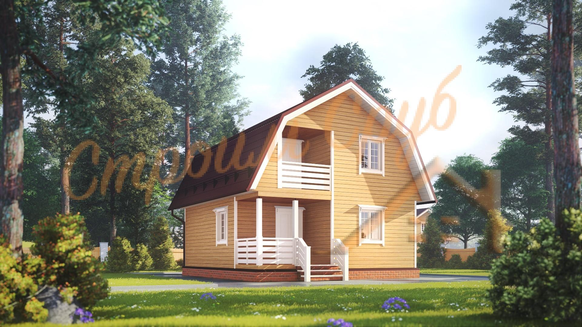 Дом из бруса 7х8 «Экономичный»