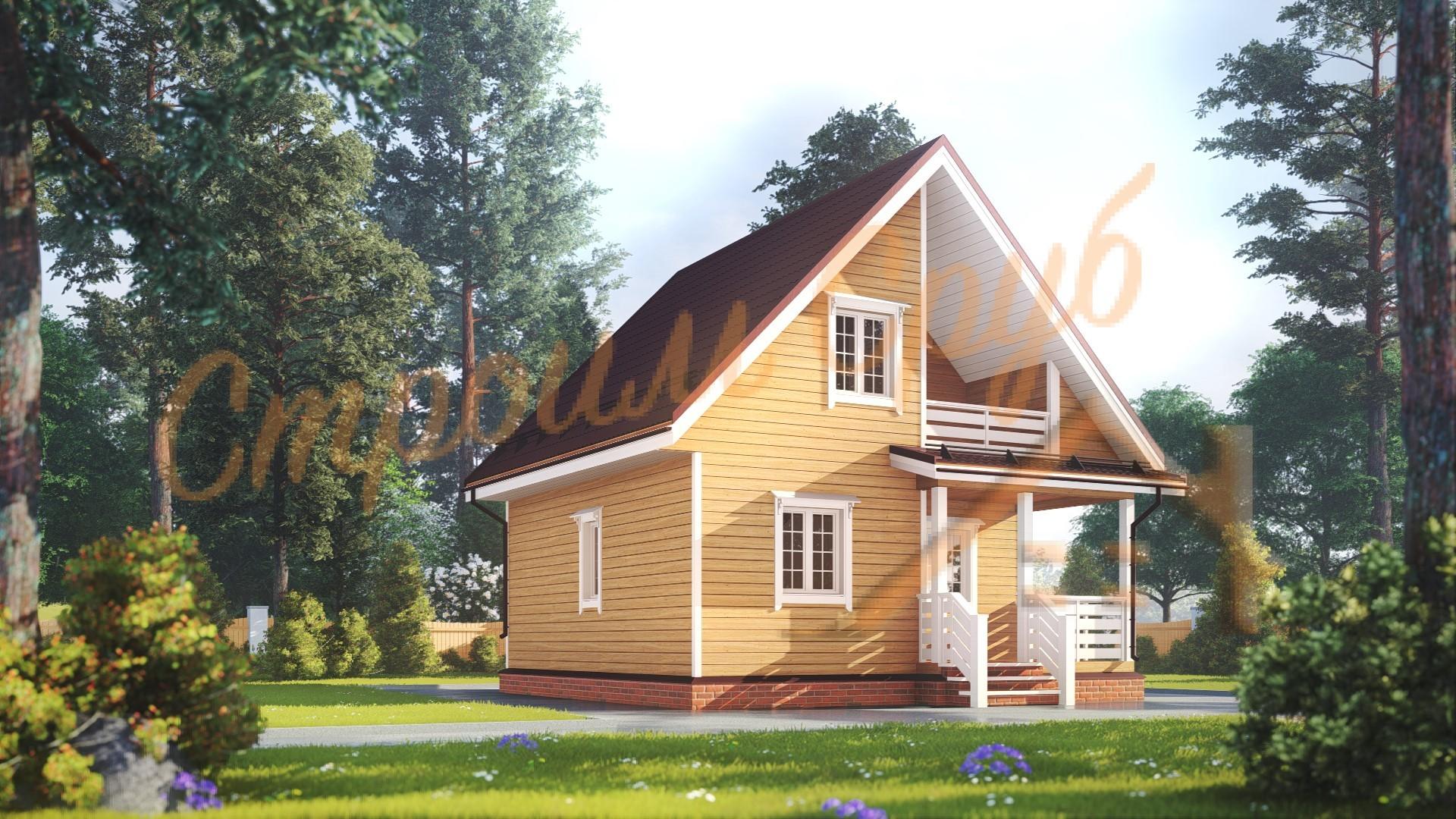 Дом из бруса 7х7 «Деревенский»