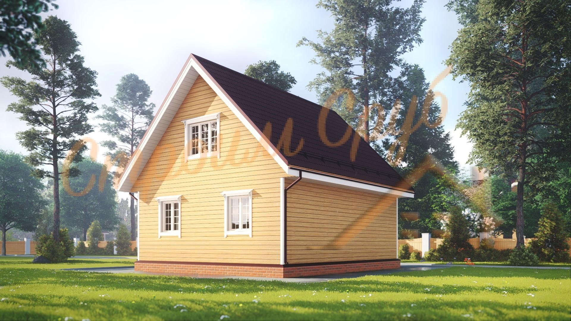 Проект дома из бруса №21