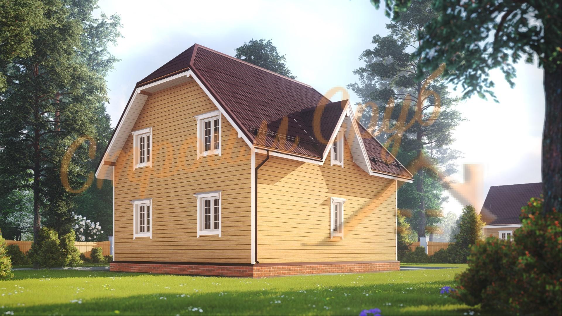 Дом из бруса 8х9 «Теплый»