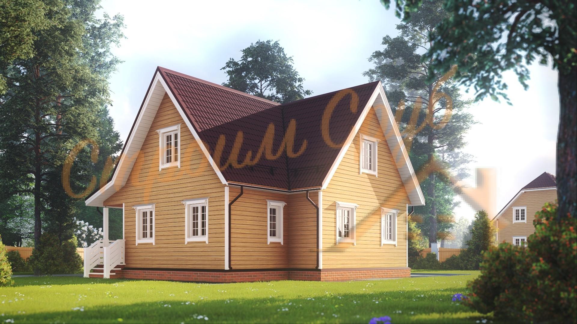 Дом из бруса 9х9 «Успешный»