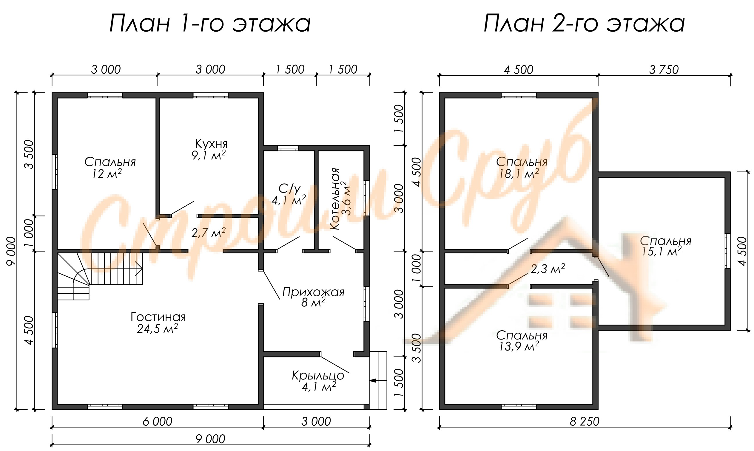 Проект дома из бруса №23