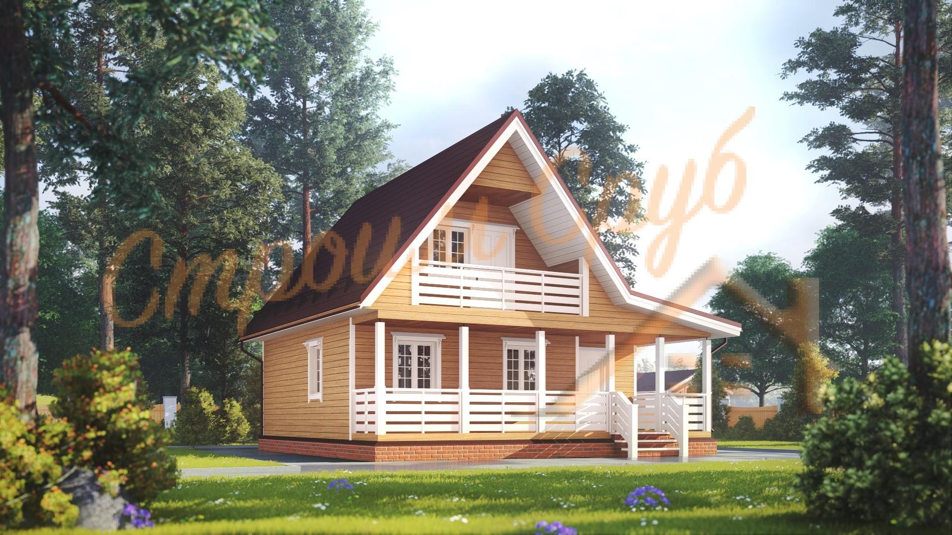 Проект дома из бруса №24