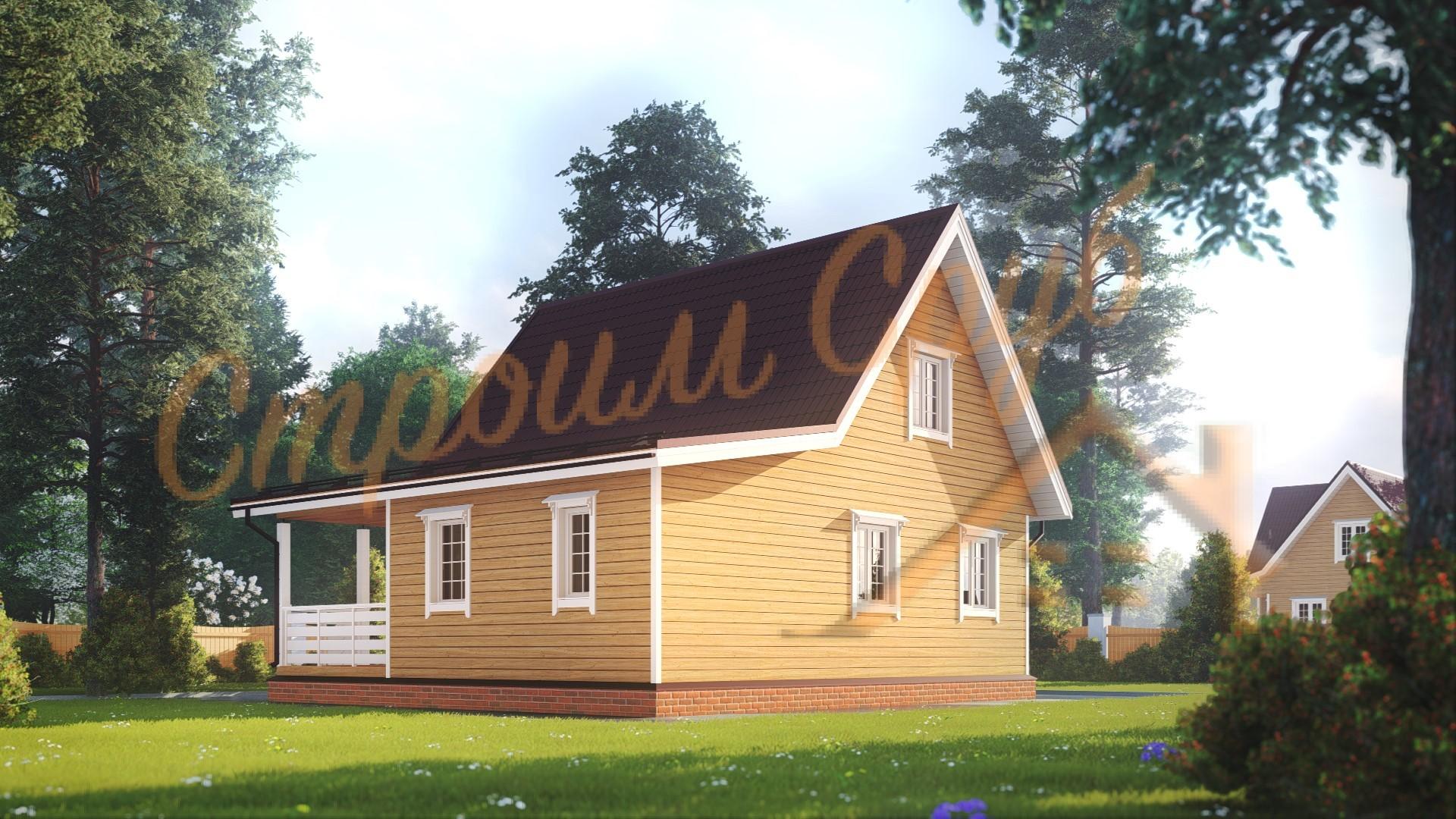 Дом из бруса 8,5х9 «Загородный»