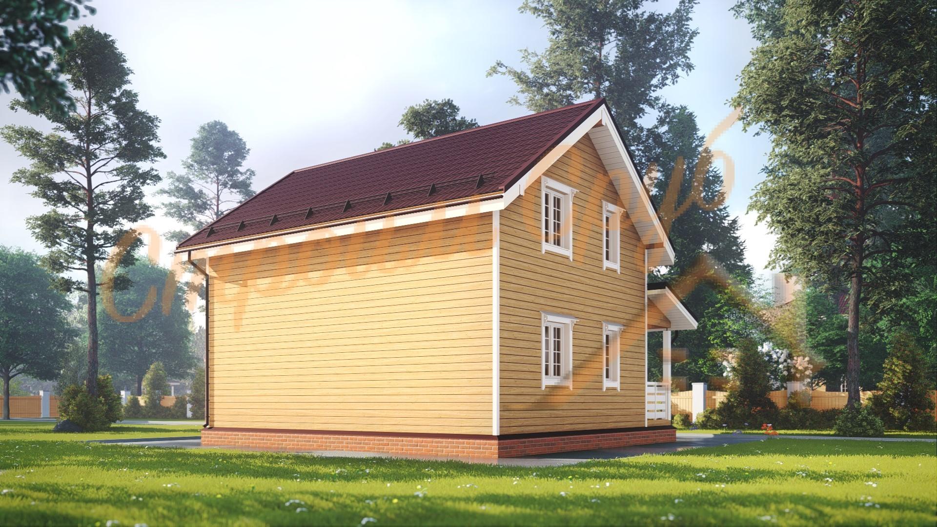 Дом из бруса 8х8,5 «Желанный»
