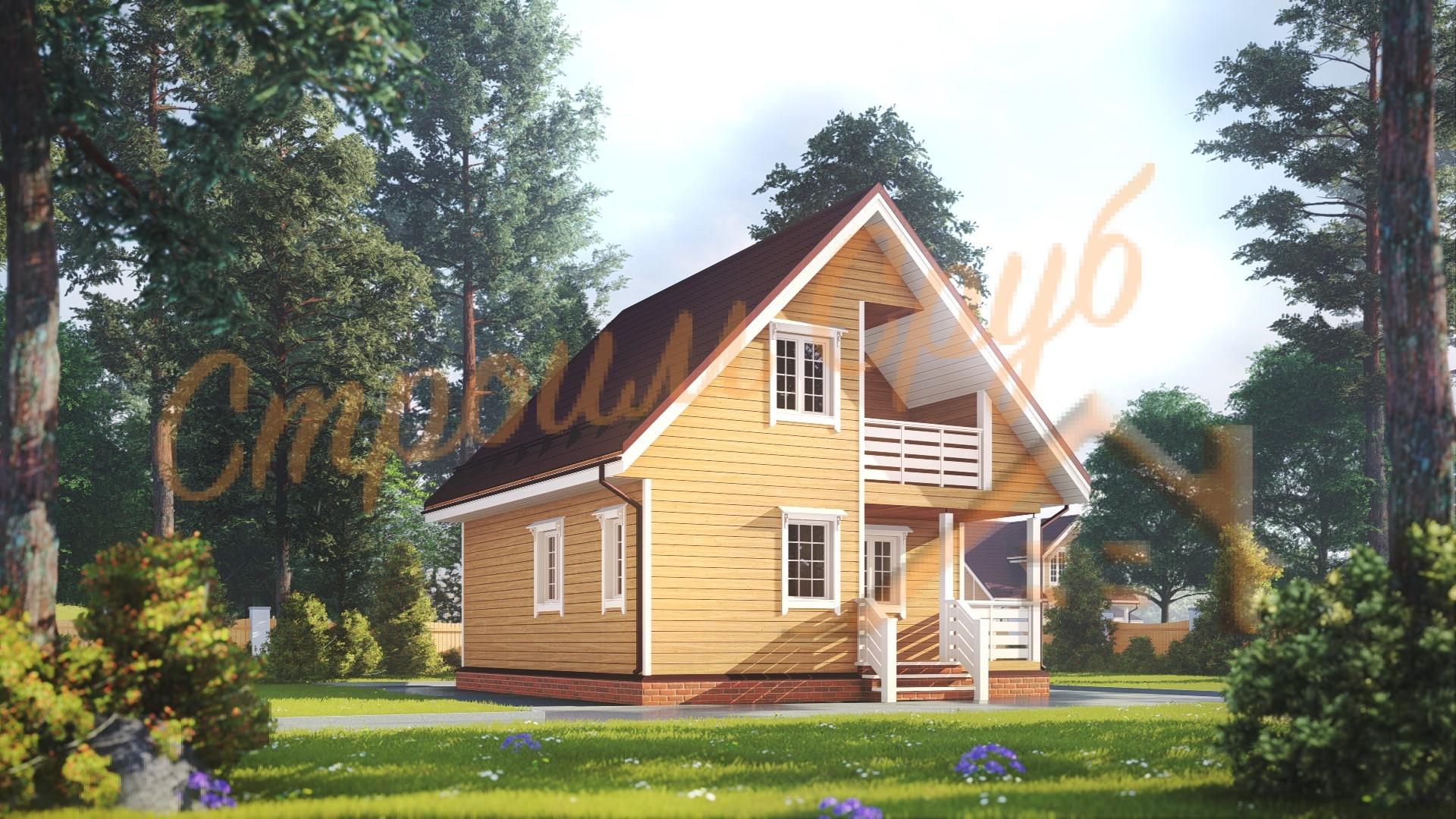 Проект дома из бруса №27