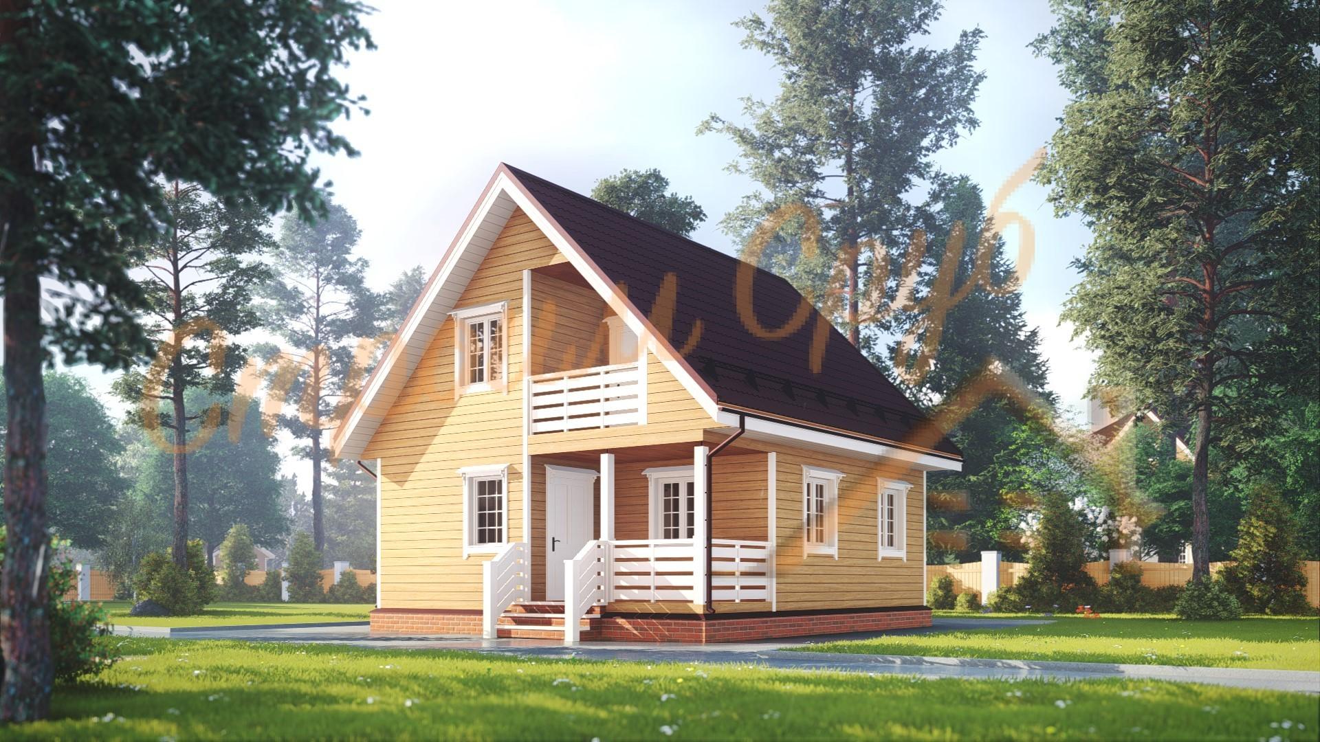 Дом из бруса 8х7 «Уникальный»