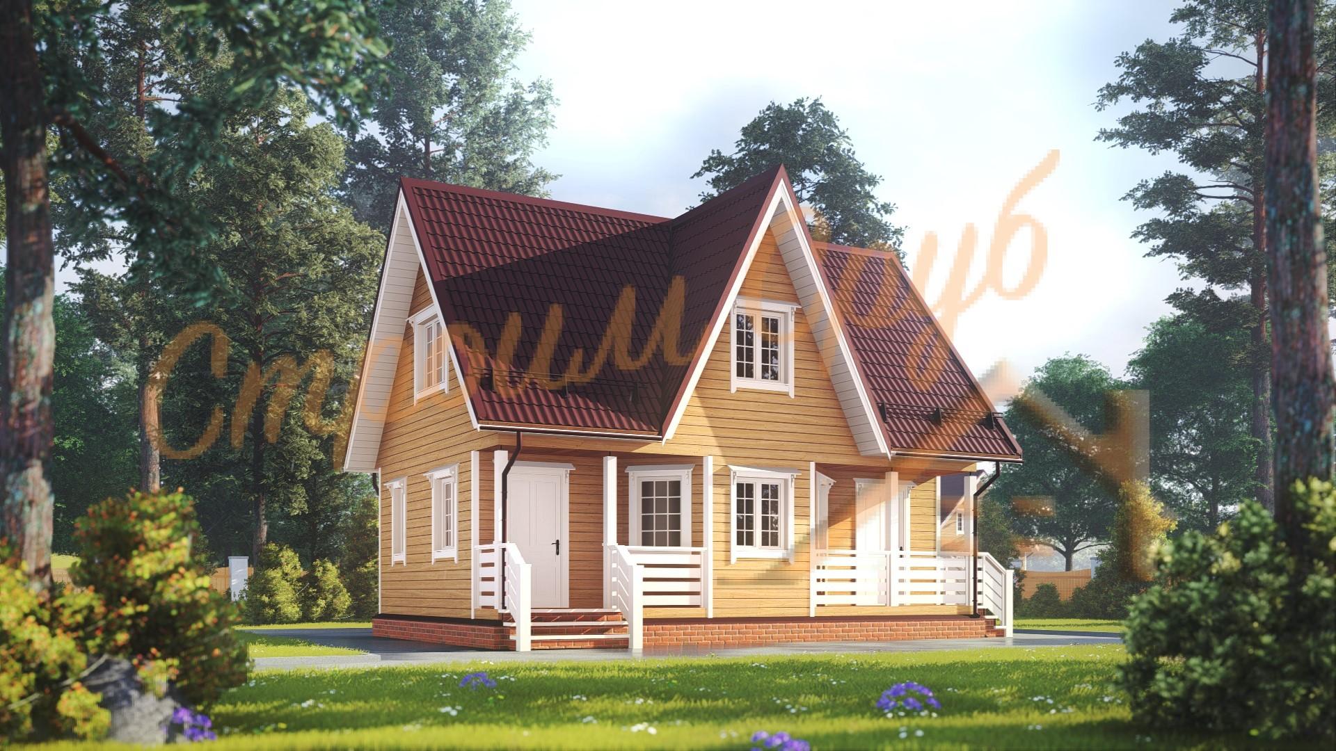 Дом из бруса 6х9 «Лесной»