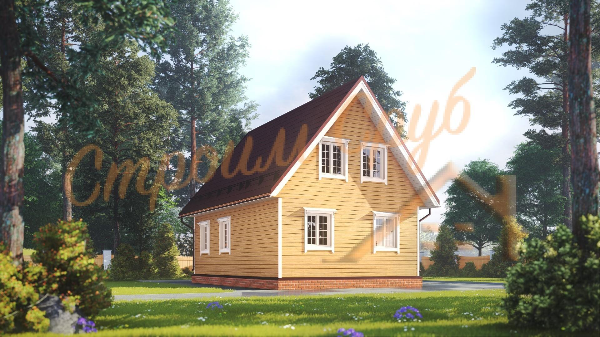 Проект дома из бруса №30