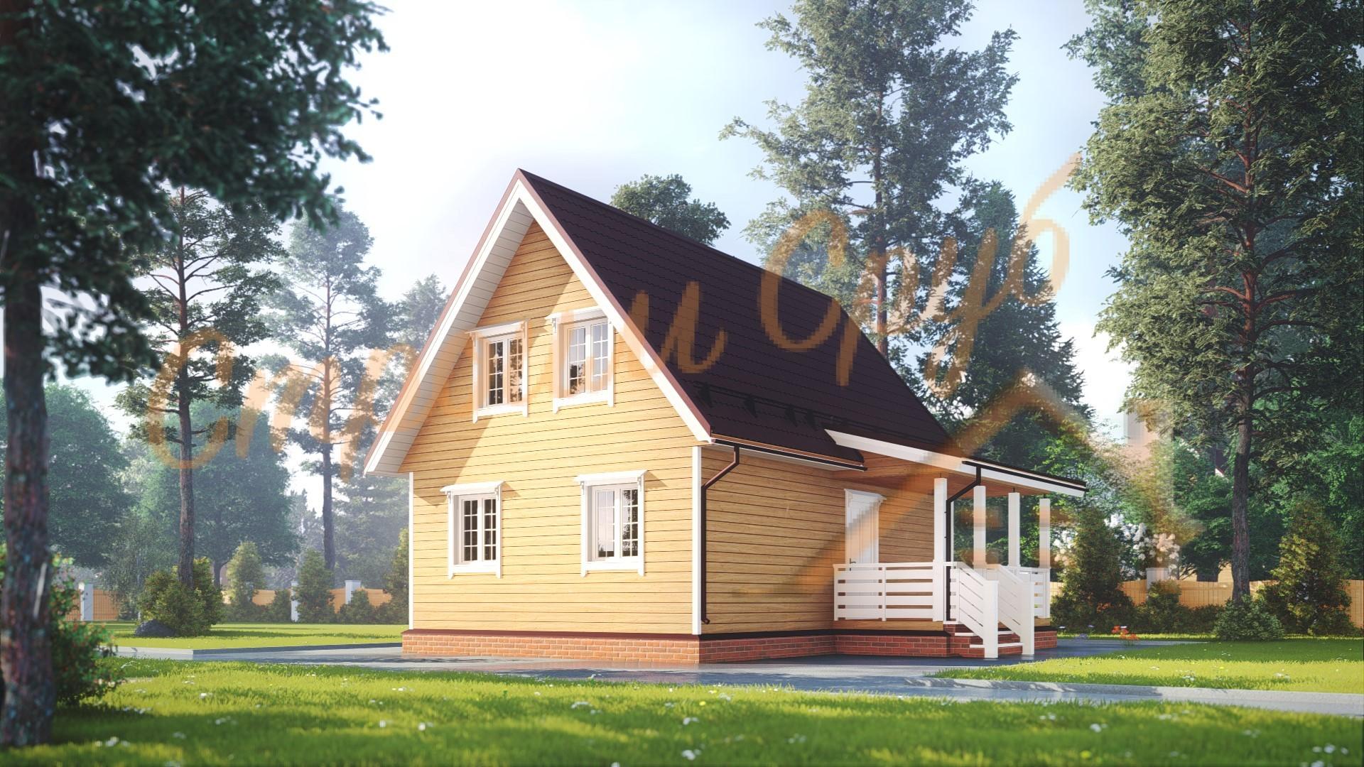 Дом из бруса 6х9 «Надежный»
