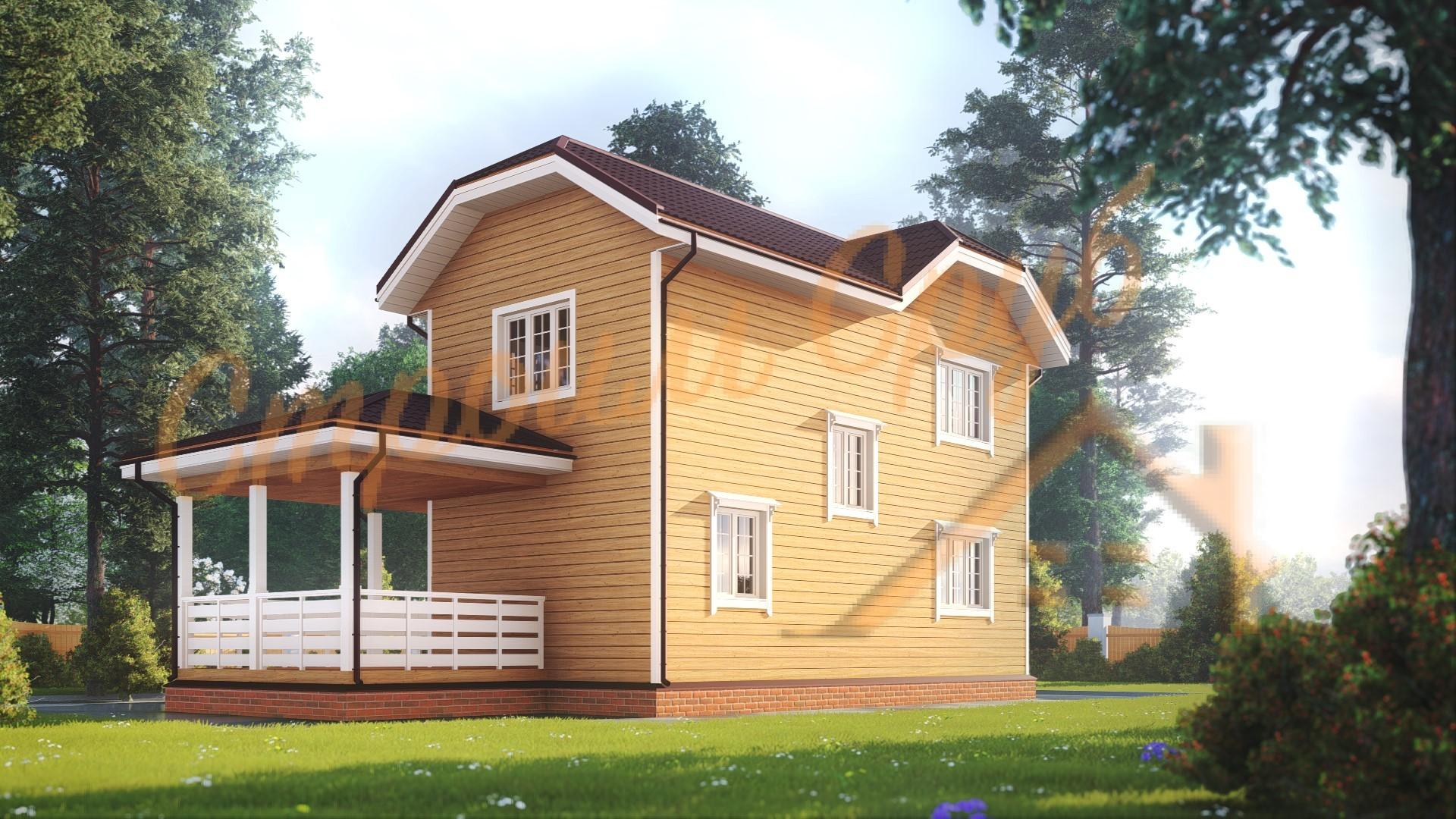 Проект дома из бруса №31