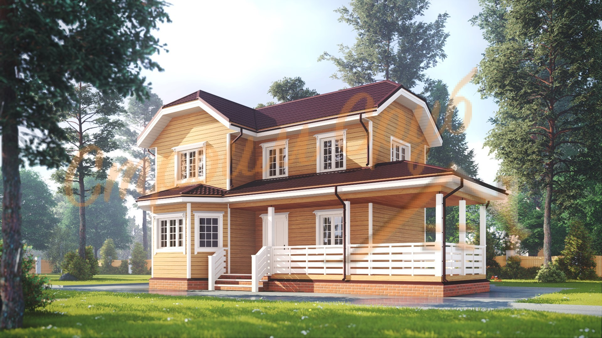 Дом из бруса 7х12 «Просторный»