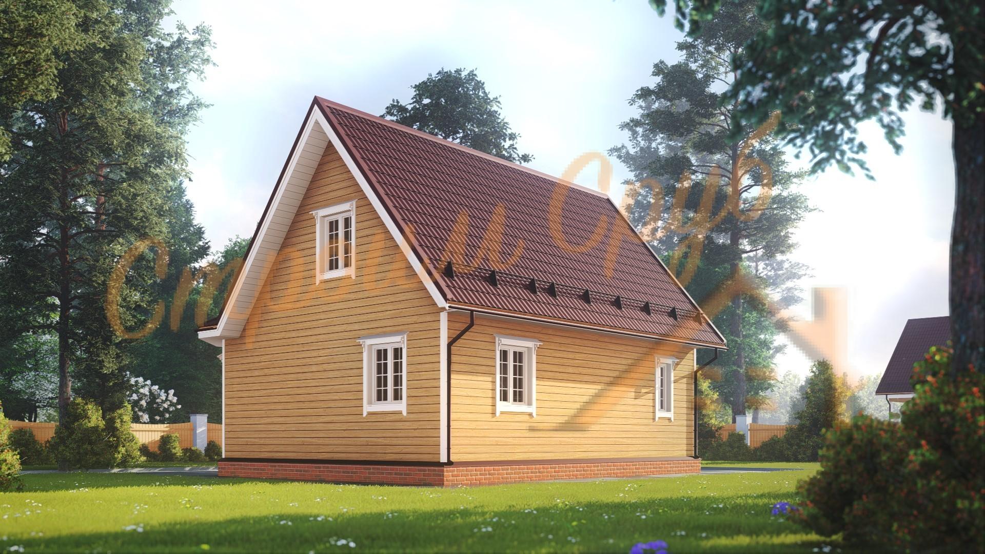 Дом из бруса 8х9 «Удобный»