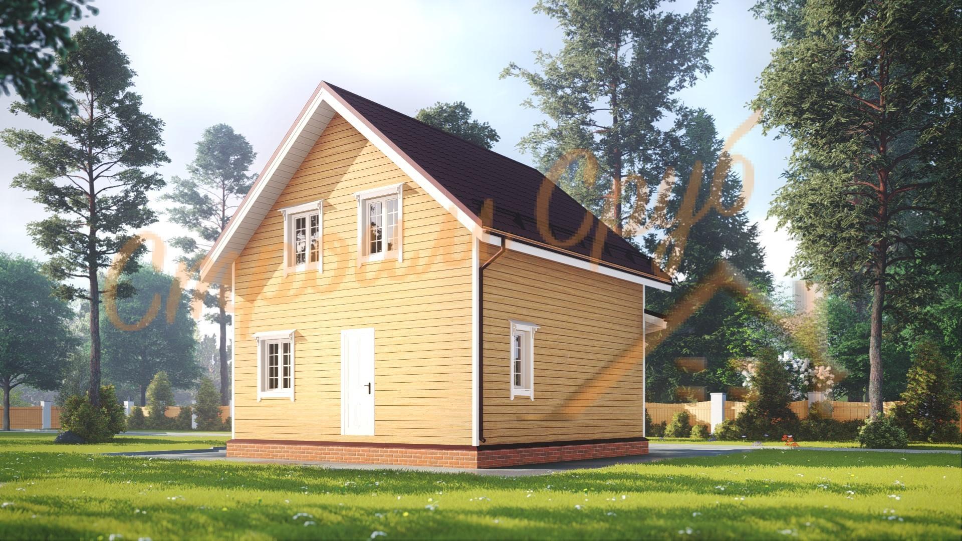 Дом из бруса 7х7 «Шикарный»