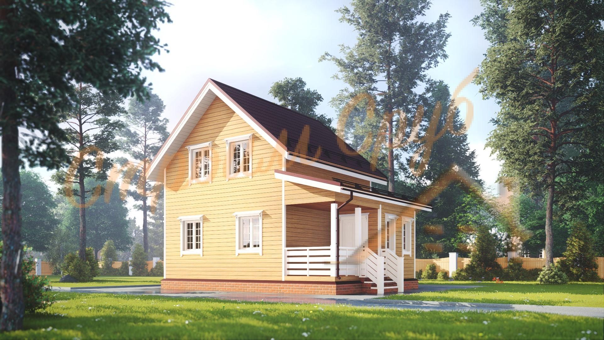 Дом из бруса 6х8 «Качественный»