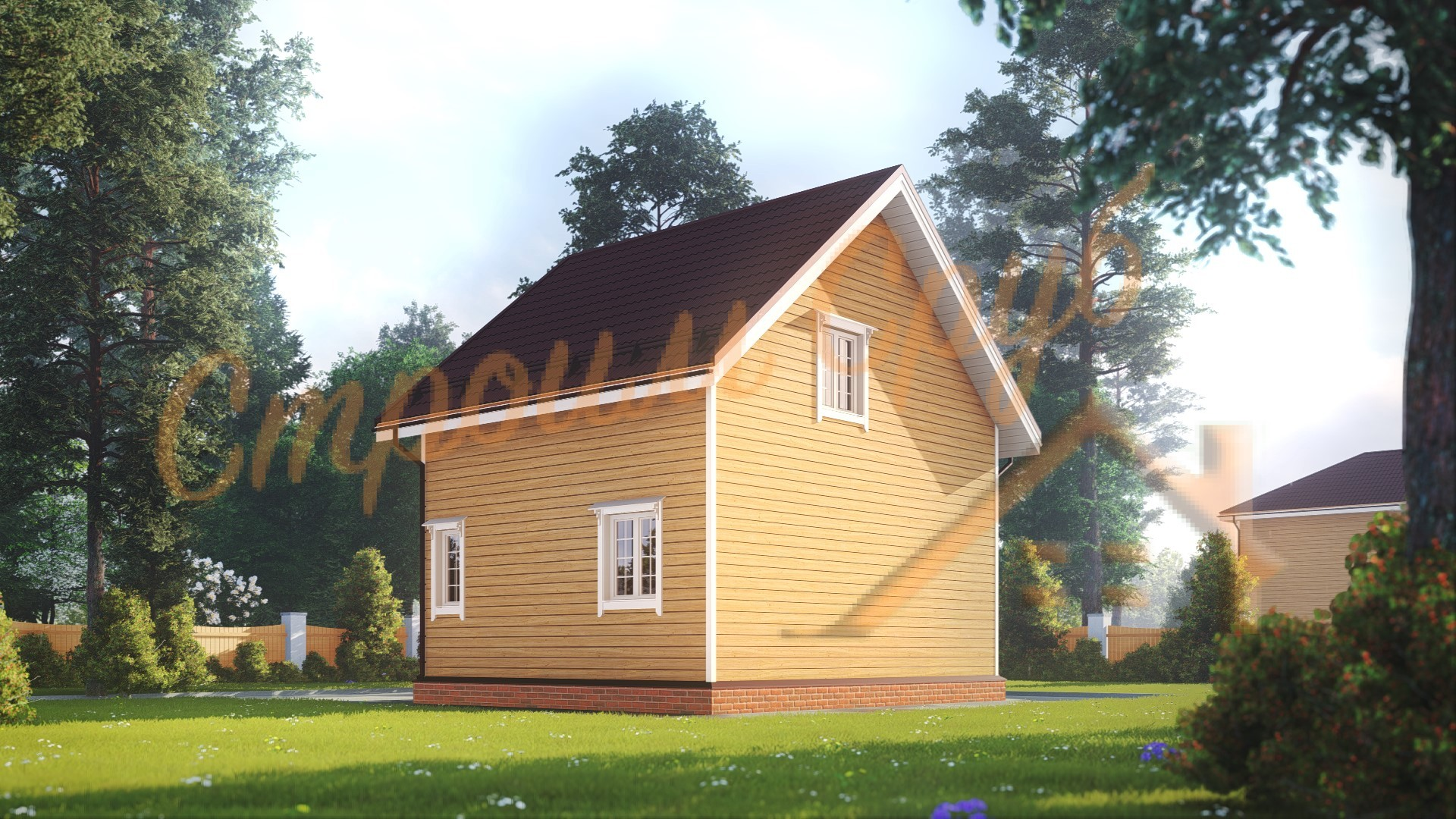 Проект дома из бруса №37