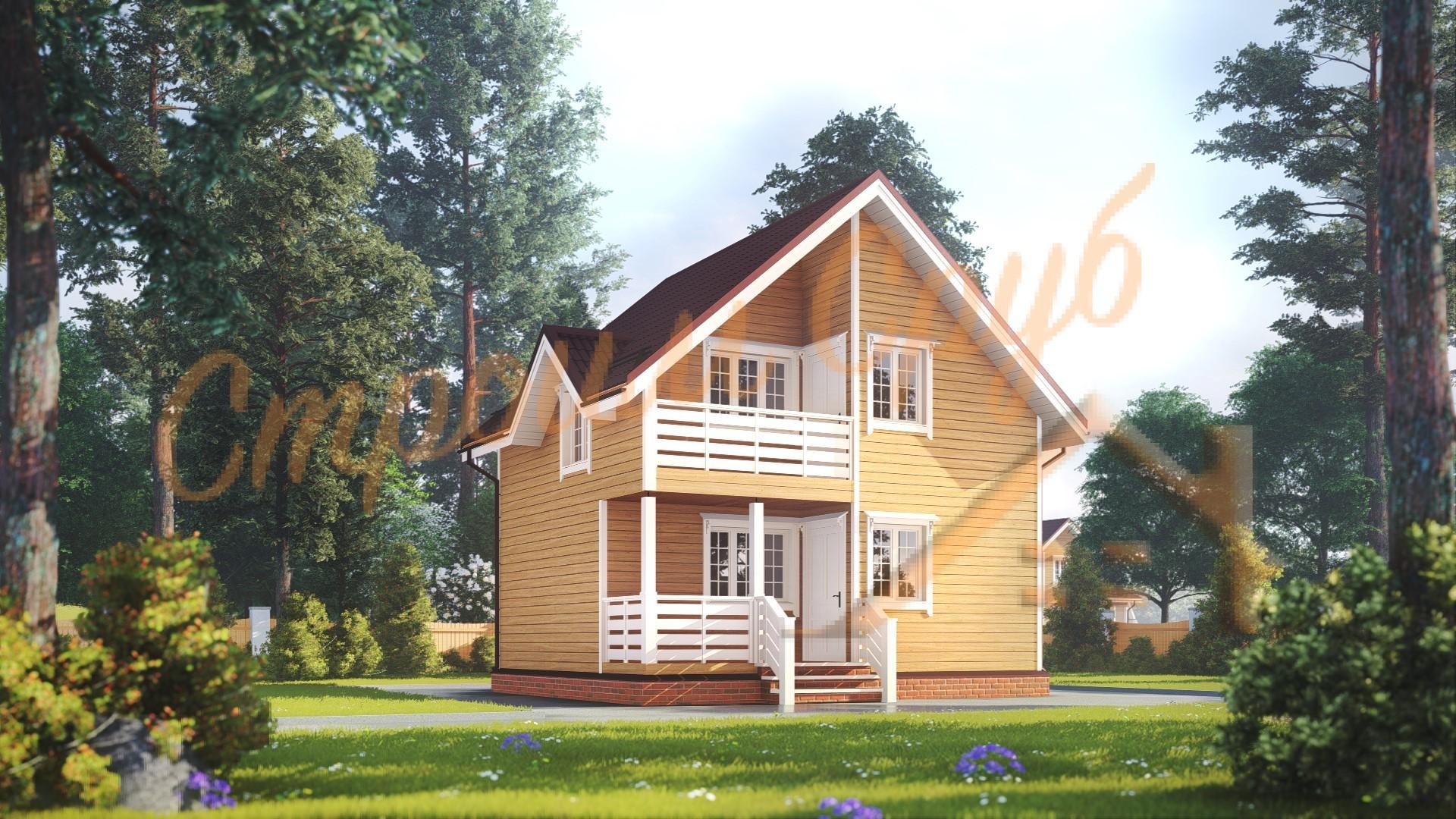Дом из бруса 6х7 «Престижный»