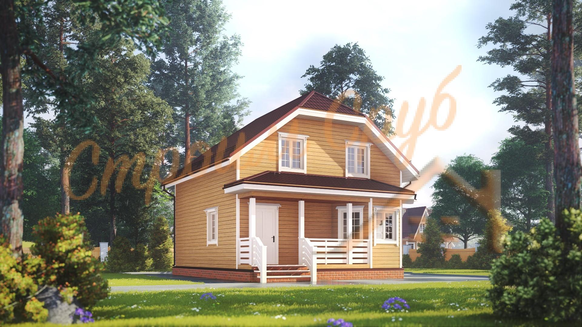 Дом из бруса 8,7х8,5 «Комфортный»