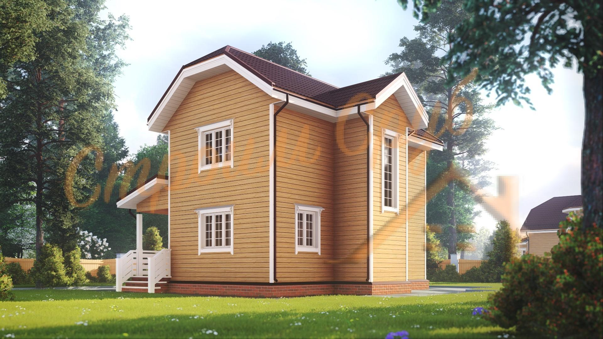 Проект дома из бруса №39