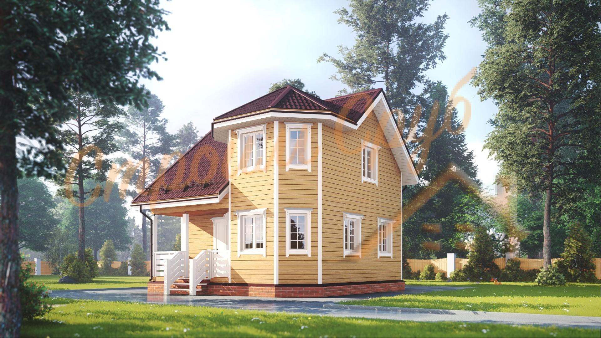 Дом из бруса 7х7 «Практичный»