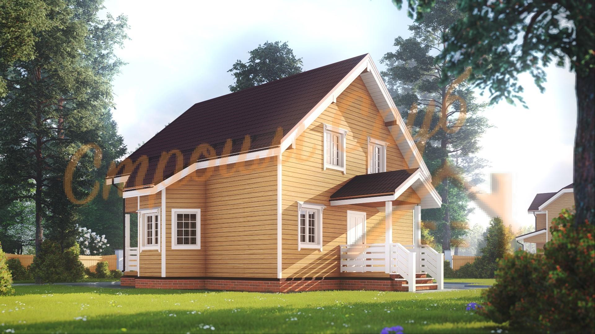 Проект дома из бруса №40