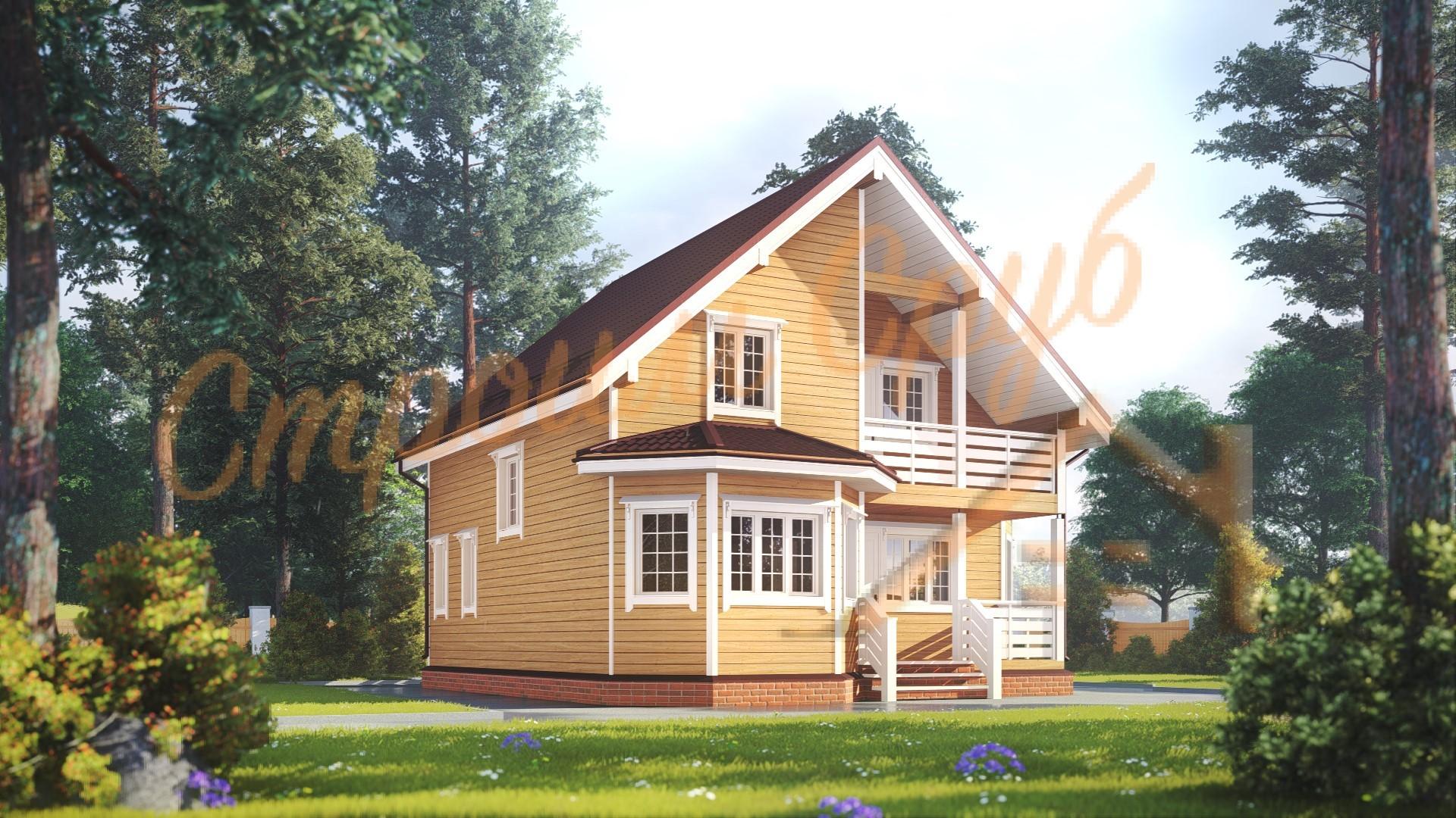 Дом из бруса 9х9,5 «Прекрасный»