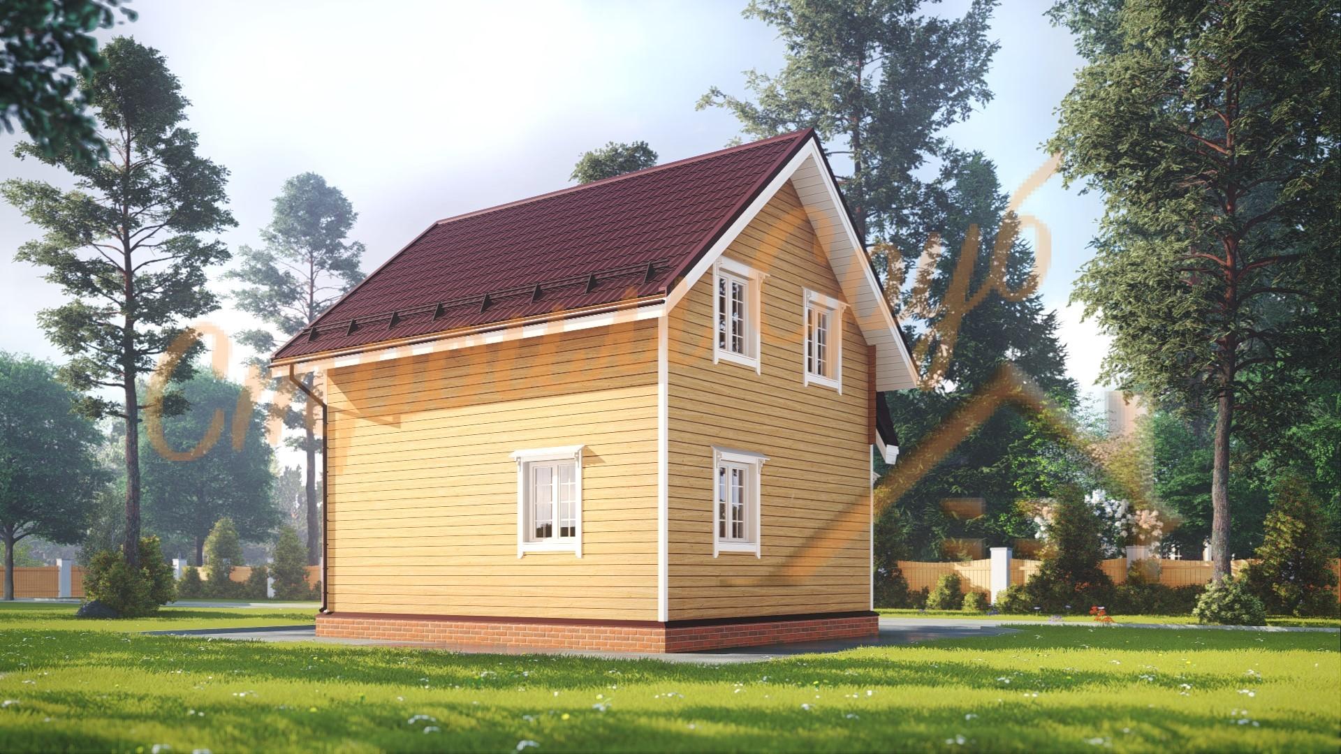Дом из бруса 7х7 «Тщательный»