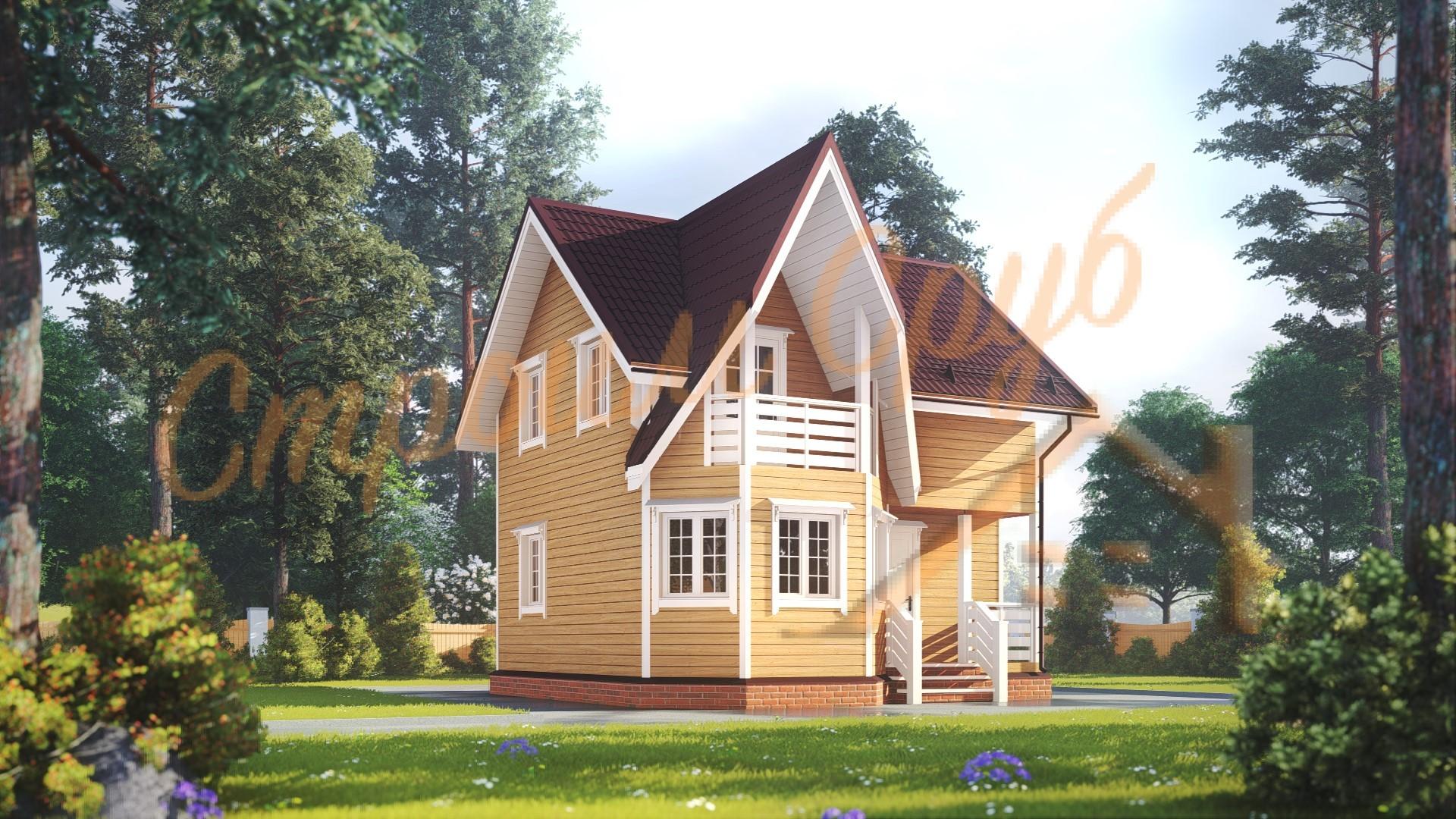 Проект дома из бруса №5