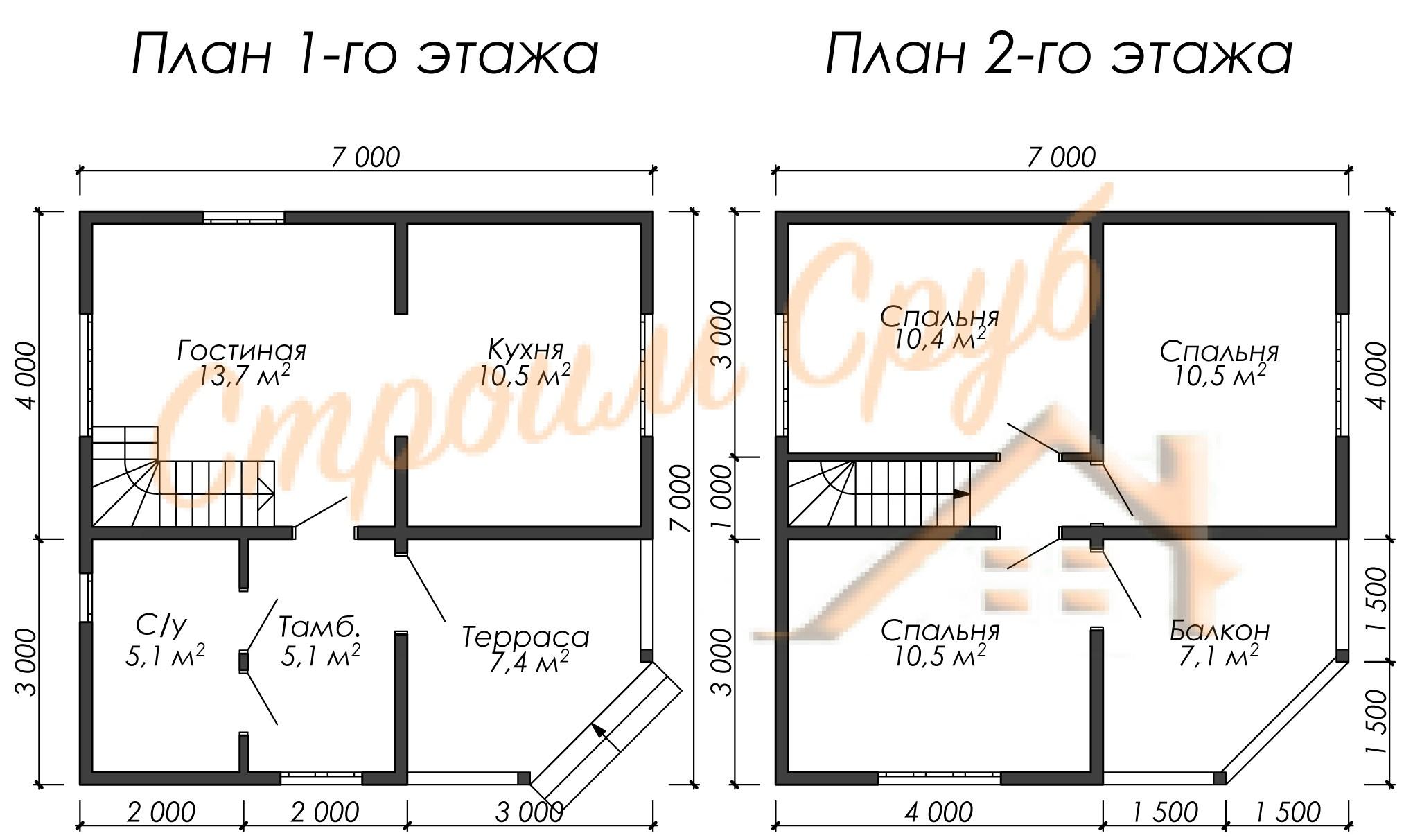 Дом из бруса 7х7 «Живой»