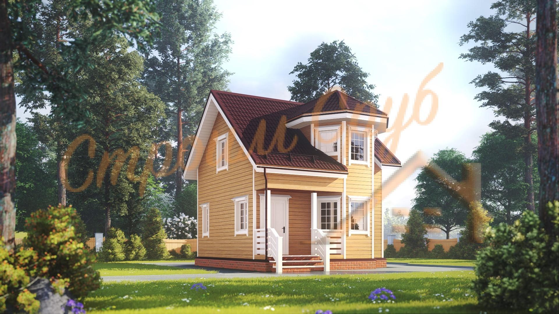 Дом из бруса 7х7 «Правильный»