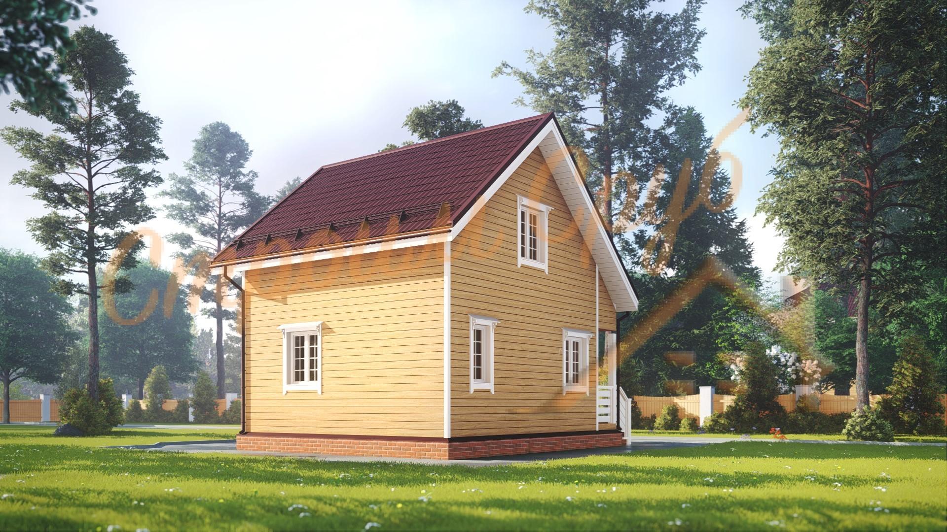 Проект дома из бруса №7