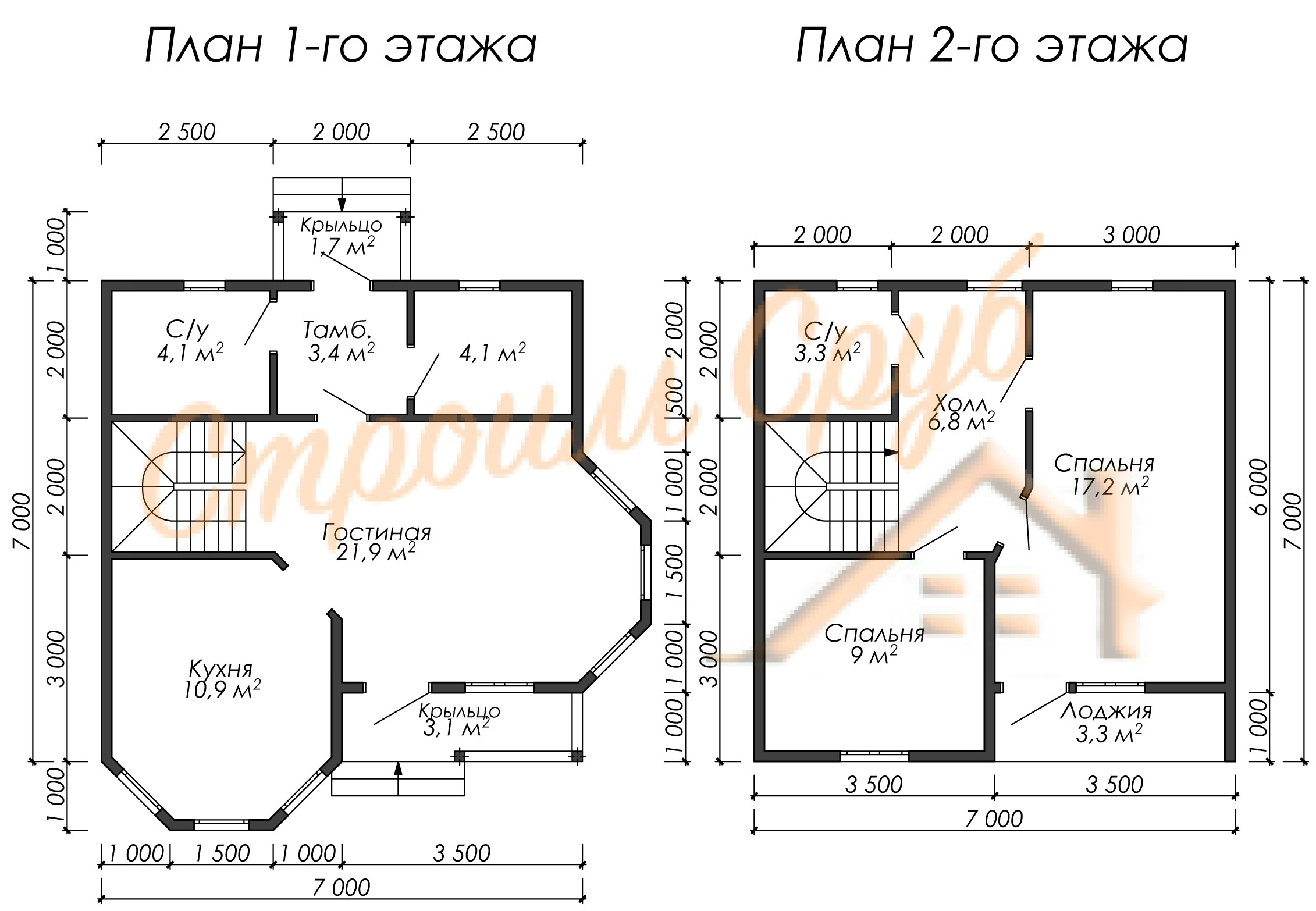 Дом из бруса 7х7 «Популярный»
