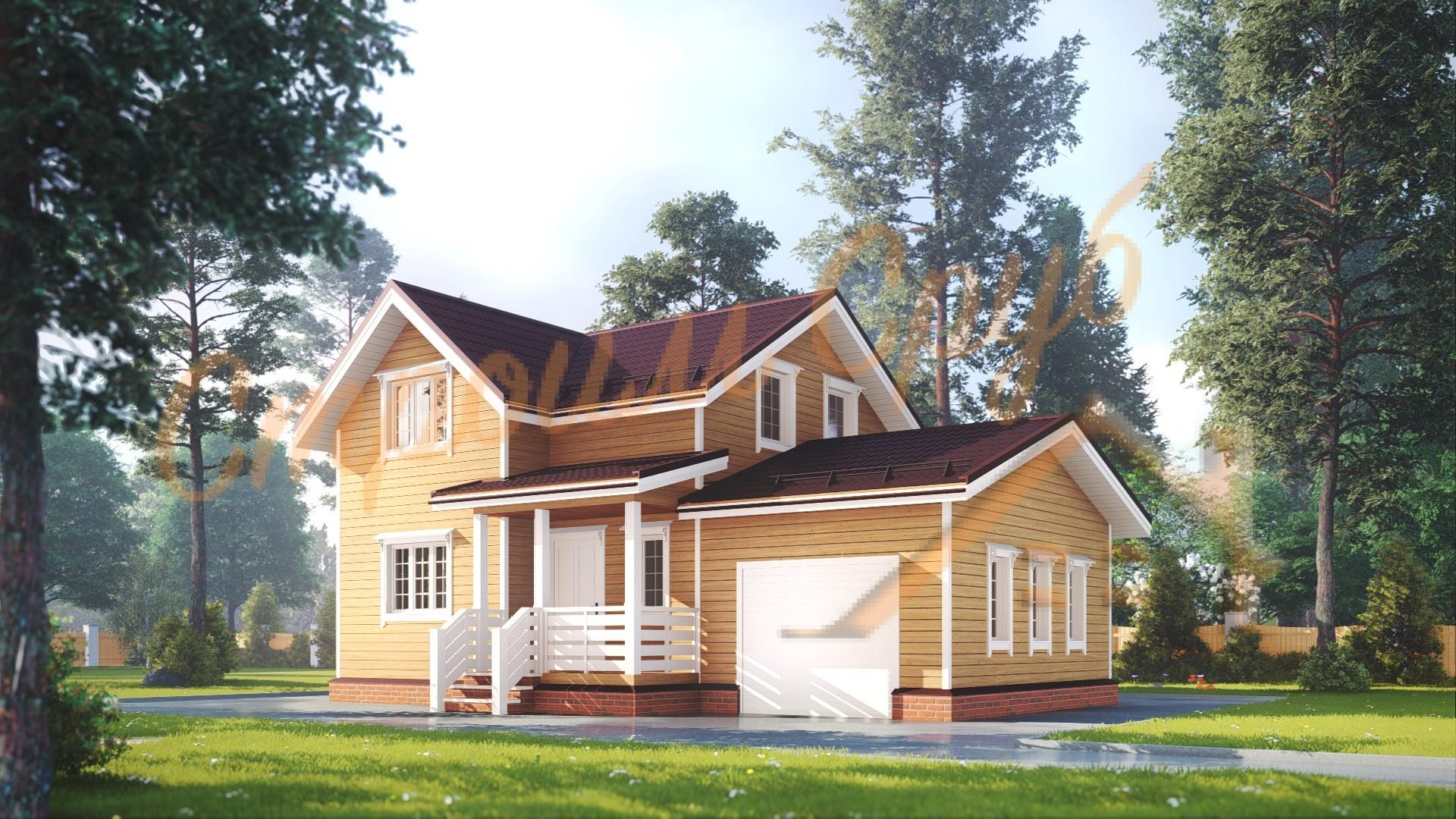 Дом из бруса 7х11 «Заманчивый»