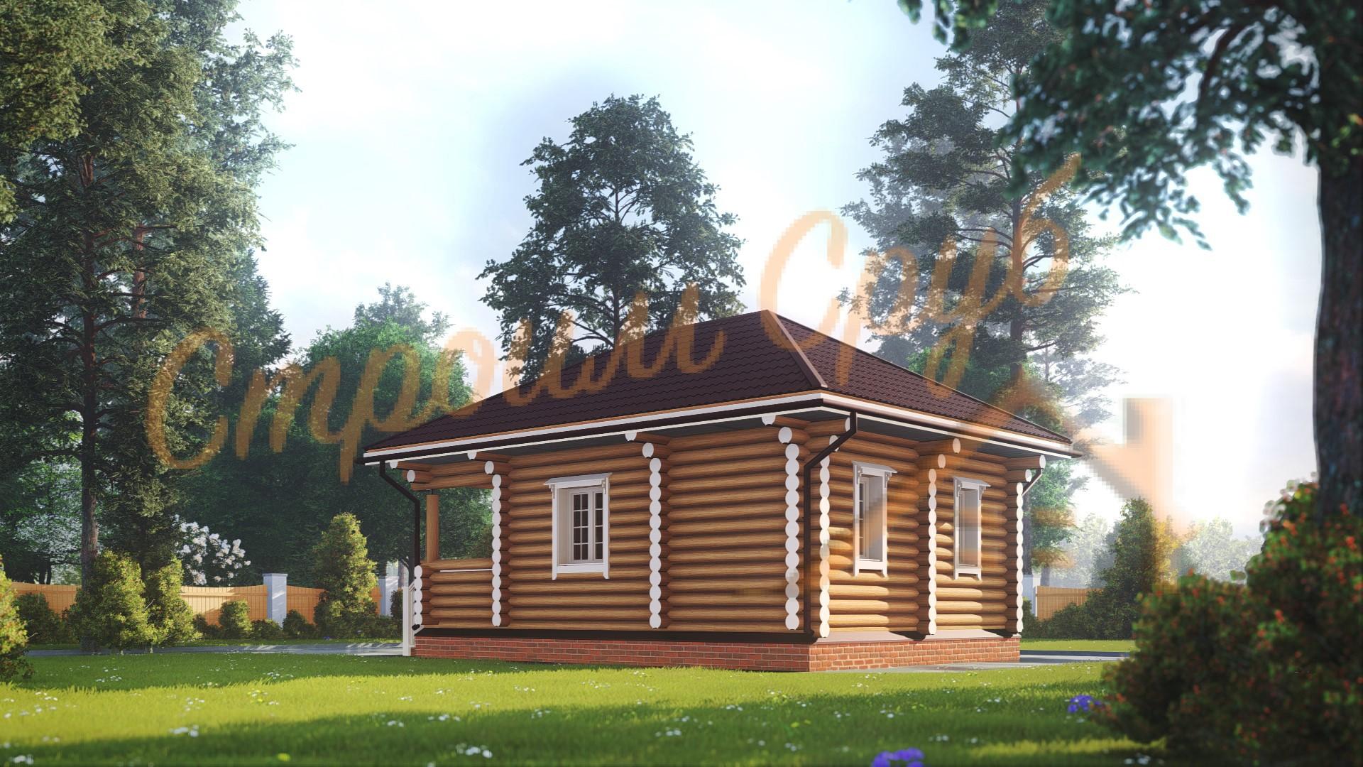 Баня из бревна 7,8х5,4 «Новгородская»