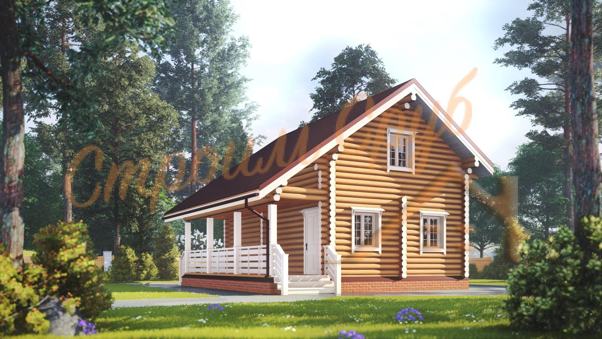 Дом из бревна 8,5х7,8 «Идеальный»