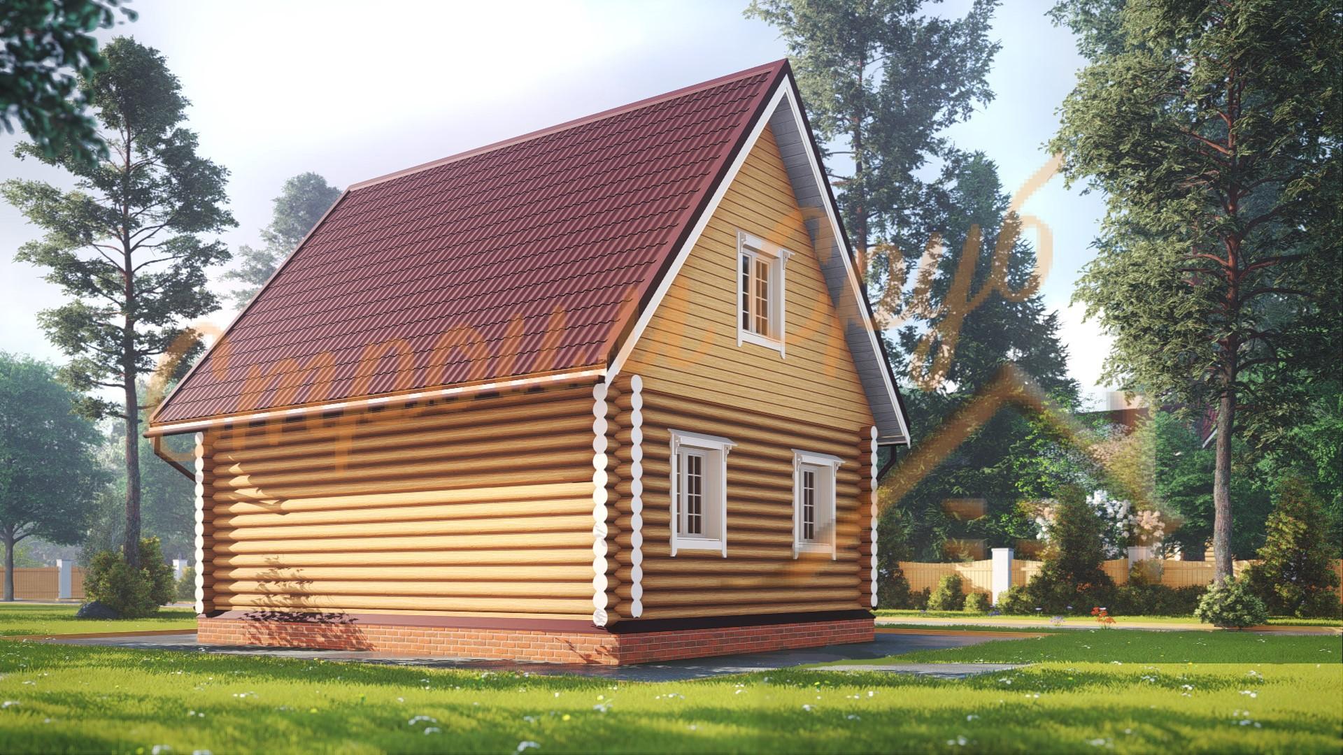 Дом из бревна 6,5х8 «Компактный»