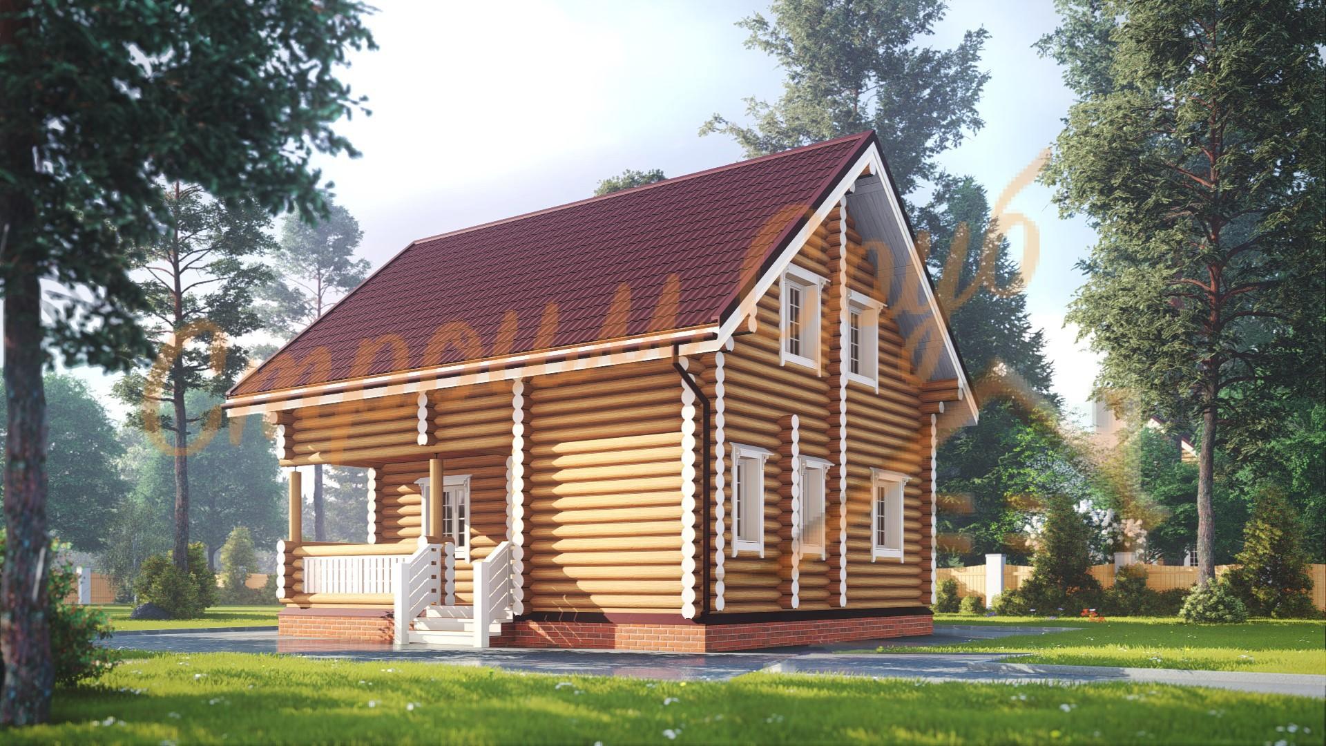 Дом из бревна 7х8,5 «Доступный»
