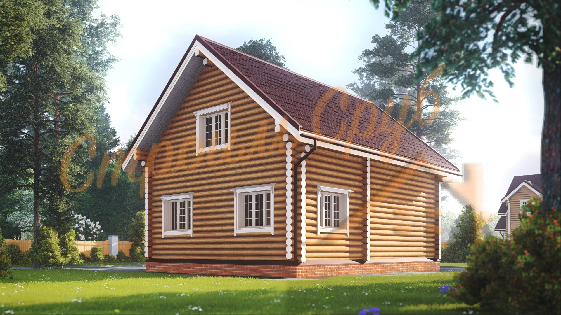 Проект дома из бревна №13
